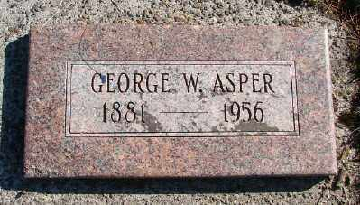 ASPER, GEORGE W - Lincoln County, Oregon | GEORGE W ASPER - Oregon Gravestone Photos