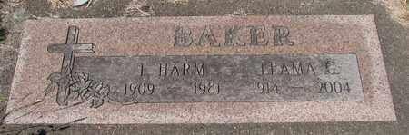 BAKER, LEAMA G - Lincoln County, Oregon | LEAMA G BAKER - Oregon Gravestone Photos