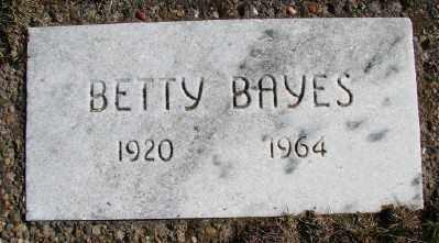 BAYES, BETTY - Lincoln County, Oregon | BETTY BAYES - Oregon Gravestone Photos