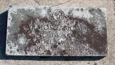 BIGGOL (WWII), ARMOS E - Lincoln County, Oregon   ARMOS E BIGGOL (WWII) - Oregon Gravestone Photos