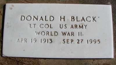 BLACK (WWII), DONALD H - Lincoln County, Oregon | DONALD H BLACK (WWII) - Oregon Gravestone Photos
