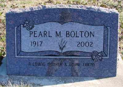 BOLTON, PEARL M - Lincoln County, Oregon | PEARL M BOLTON - Oregon Gravestone Photos
