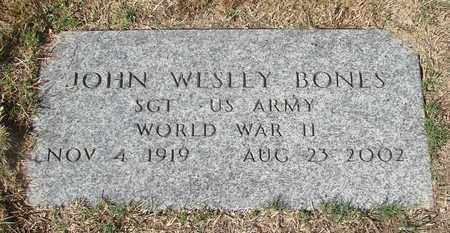 BONES, JOHN WESLEY - Lincoln County, Oregon | JOHN WESLEY BONES - Oregon Gravestone Photos