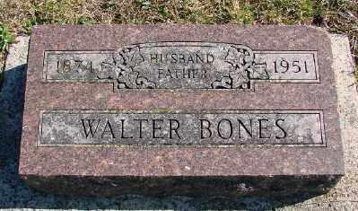 BONES, WALTER - Lincoln County, Oregon   WALTER BONES - Oregon Gravestone Photos