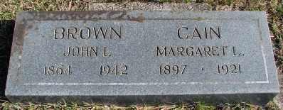 BROWN, JOHN L - Lincoln County, Oregon | JOHN L BROWN - Oregon Gravestone Photos