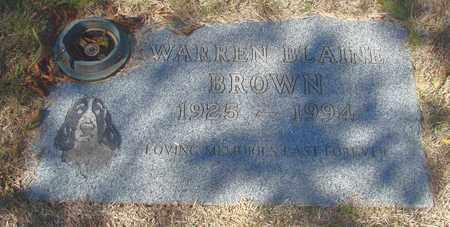 BROWN, WARREN BLAINE - Lincoln County, Oregon | WARREN BLAINE BROWN - Oregon Gravestone Photos