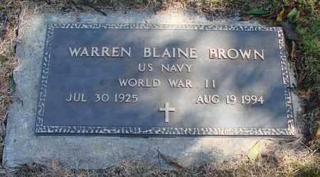 BROWN, WARREN BLAINE - Lincoln County, Oregon   WARREN BLAINE BROWN - Oregon Gravestone Photos