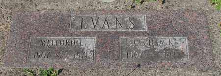 EVANS, MELFORD L - Lincoln County, Oregon | MELFORD L EVANS - Oregon Gravestone Photos