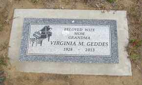 SCOTT GEDDES, VIRGINIA MAE - Lincoln County, Oregon | VIRGINIA MAE SCOTT GEDDES - Oregon Gravestone Photos