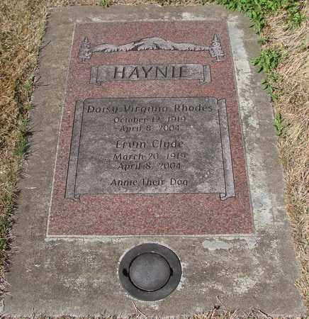 HAYNIE, ERVIN CLYDE - Lincoln County, Oregon | ERVIN CLYDE HAYNIE - Oregon Gravestone Photos