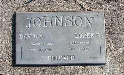 JOHNSON, DAVID A - Lincoln County, Oregon | DAVID A JOHNSON - Oregon Gravestone Photos