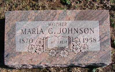 JOHNSON, MARIA G - Lincoln County, Oregon | MARIA G JOHNSON - Oregon Gravestone Photos