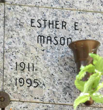 MASON, ESTHER E - Lincoln County, Oregon | ESTHER E MASON - Oregon Gravestone Photos