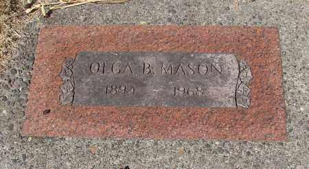 MASON, OLGA B - Lincoln County, Oregon   OLGA B MASON - Oregon Gravestone Photos