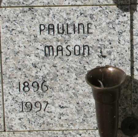 MASON, PAULINE MARGARET - Lincoln County, Oregon   PAULINE MARGARET MASON - Oregon Gravestone Photos