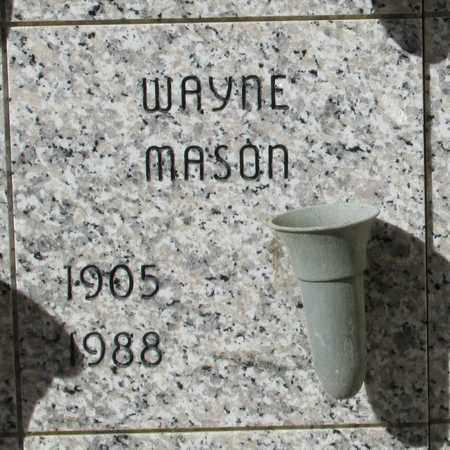 MASON, WAYNE EMERY - Lincoln County, Oregon | WAYNE EMERY MASON - Oregon Gravestone Photos