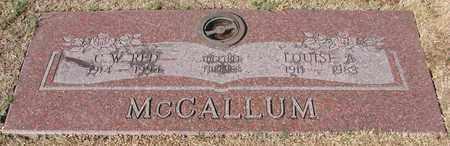 MCCALLUM, LOUISE A - Lincoln County, Oregon | LOUISE A MCCALLUM - Oregon Gravestone Photos
