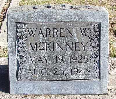MCKINNEY, WARREN W - Lincoln County, Oregon   WARREN W MCKINNEY - Oregon Gravestone Photos
