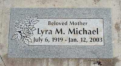 MICHAEL, LYRA M - Lincoln County, Oregon | LYRA M MICHAEL - Oregon Gravestone Photos