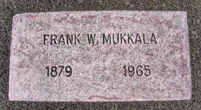 MUKKALA, FRANK W - Lincoln County, Oregon | FRANK W MUKKALA - Oregon Gravestone Photos