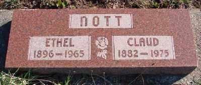 NOTT, CLAUD - Lincoln County, Oregon | CLAUD NOTT - Oregon Gravestone Photos