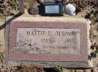OLSON, MATTIE R - Lincoln County, Oregon | MATTIE R OLSON - Oregon Gravestone Photos