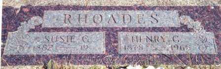 RHOADES, HENRY G. - Lincoln County, Oregon | HENRY G. RHOADES - Oregon Gravestone Photos