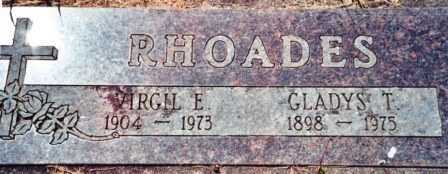 RHOADES, VIRGIL E - Lincoln County, Oregon | VIRGIL E RHOADES - Oregon Gravestone Photos