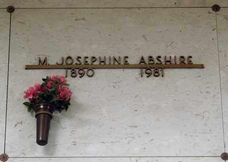 ABSHIRE, MARY JOSEPHINE - Linn County, Oregon | MARY JOSEPHINE ABSHIRE - Oregon Gravestone Photos
