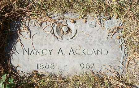 ACKLAND, NANCY A - Linn County, Oregon | NANCY A ACKLAND - Oregon Gravestone Photos