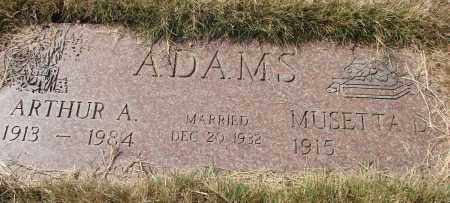 ADAMS, MUSETTA - Linn County, Oregon | MUSETTA ADAMS - Oregon Gravestone Photos