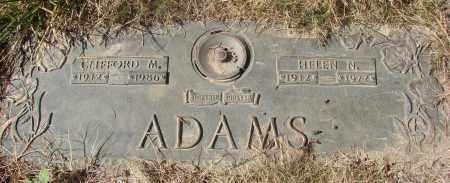 ADAMS, CLIFFORD M - Linn County, Oregon | CLIFFORD M ADAMS - Oregon Gravestone Photos