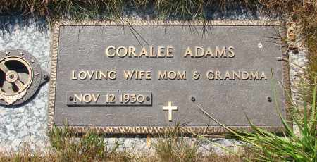 ADAMS, CORALEE - Linn County, Oregon   CORALEE ADAMS - Oregon Gravestone Photos