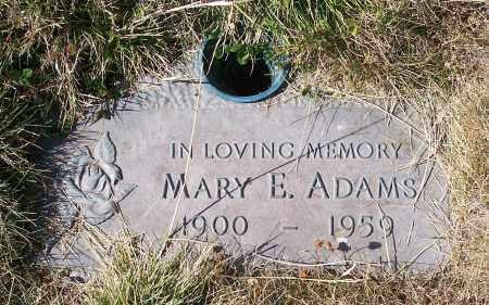 ADAMS, MARY E - Linn County, Oregon   MARY E ADAMS - Oregon Gravestone Photos