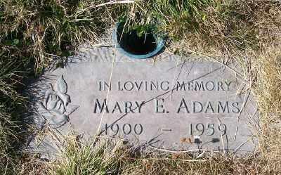 ADAMS, MARY ELEANORA - Linn County, Oregon | MARY ELEANORA ADAMS - Oregon Gravestone Photos