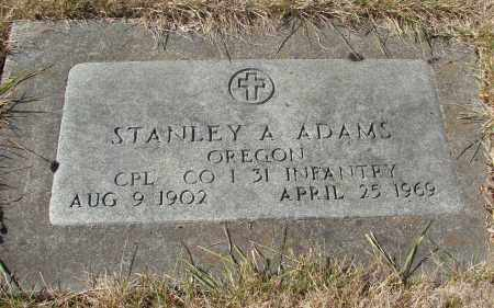 ADAMS, STANLEY A - Linn County, Oregon | STANLEY A ADAMS - Oregon Gravestone Photos