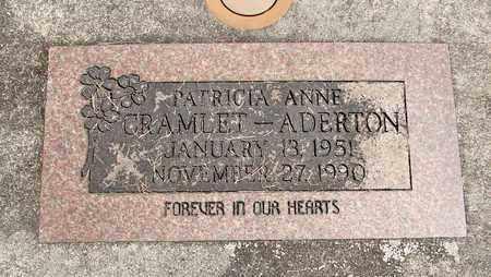 CRAMLET ADERTON, PATRICIA ANNE - Linn County, Oregon | PATRICIA ANNE CRAMLET ADERTON - Oregon Gravestone Photos