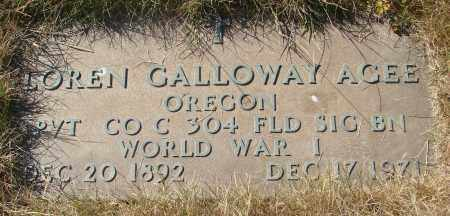 AGEE (WWI), LOREN GALLOWAY - Linn County, Oregon | LOREN GALLOWAY AGEE (WWI) - Oregon Gravestone Photos