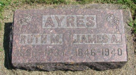 AYRES, JAMES ALBERT - Linn County, Oregon | JAMES ALBERT AYRES - Oregon Gravestone Photos