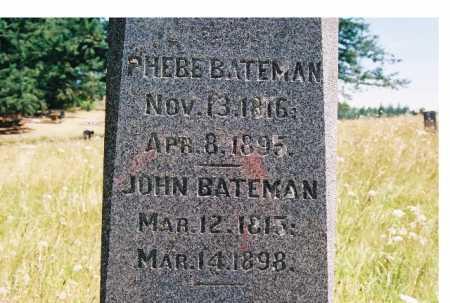 BATEMAN, PHEBE - Linn County, Oregon   PHEBE BATEMAN - Oregon Gravestone Photos