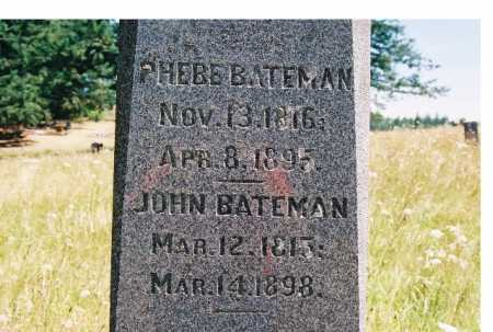 BATEMAN, PHEBE - Linn County, Oregon | PHEBE BATEMAN - Oregon Gravestone Photos