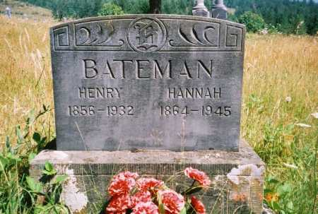 CHANCE BATEMAN, HANNAH - Linn County, Oregon | HANNAH CHANCE BATEMAN - Oregon Gravestone Photos