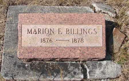 BILLINGS, MARION F - Linn County, Oregon | MARION F BILLINGS - Oregon Gravestone Photos