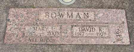MCCOY BOWMAN, MARY ISABELLE - Linn County, Oregon   MARY ISABELLE MCCOY BOWMAN - Oregon Gravestone Photos