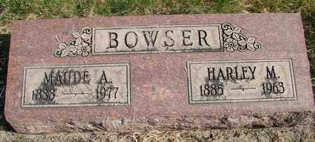 BOWSER, HARLEY M - Linn County, Oregon | HARLEY M BOWSER - Oregon Gravestone Photos