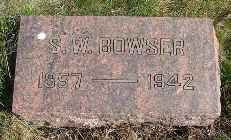 BOWSER, SAMUEL WILSON - Linn County, Oregon | SAMUEL WILSON BOWSER - Oregon Gravestone Photos