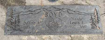 BOYD, DONNA M - Linn County, Oregon | DONNA M BOYD - Oregon Gravestone Photos