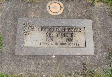 YUNKER BOYER, GERTRUDE H - Linn County, Oregon | GERTRUDE H YUNKER BOYER - Oregon Gravestone Photos