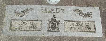 BRADY, JESSE W - Linn County, Oregon   JESSE W BRADY - Oregon Gravestone Photos