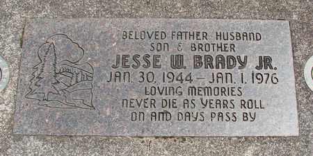 BRADY, JESSE W JR - Linn County, Oregon   JESSE W JR BRADY - Oregon Gravestone Photos